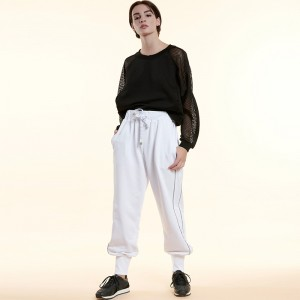White Reflective Line Performance Pants