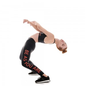 Be as you are black side logo sign leggings