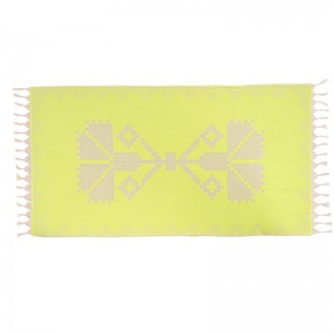 Neon Lime Embroidered Towel